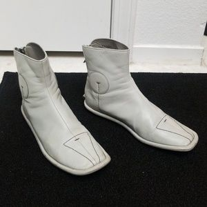 PRADA Funky Gray Leather Ankle Boots MADE IN ITALY